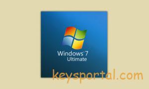 Лицензионный ключWindows 7 Максимальная Ultimate